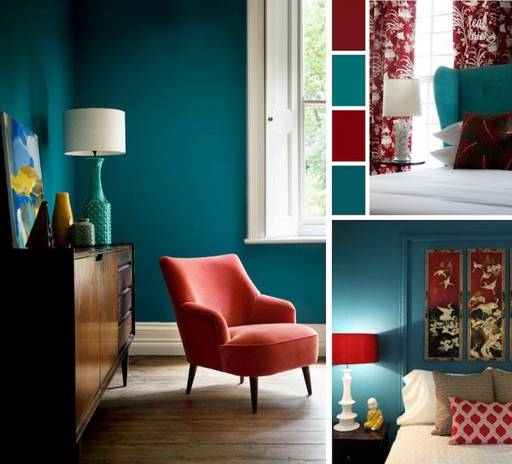 Best 25 bleu canard ideas that you will like on pinterest deco bleu canard peinture bleu for Chambre avec peinture rouge