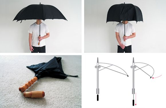 "The ""polite"" umbrella. What a great idea."