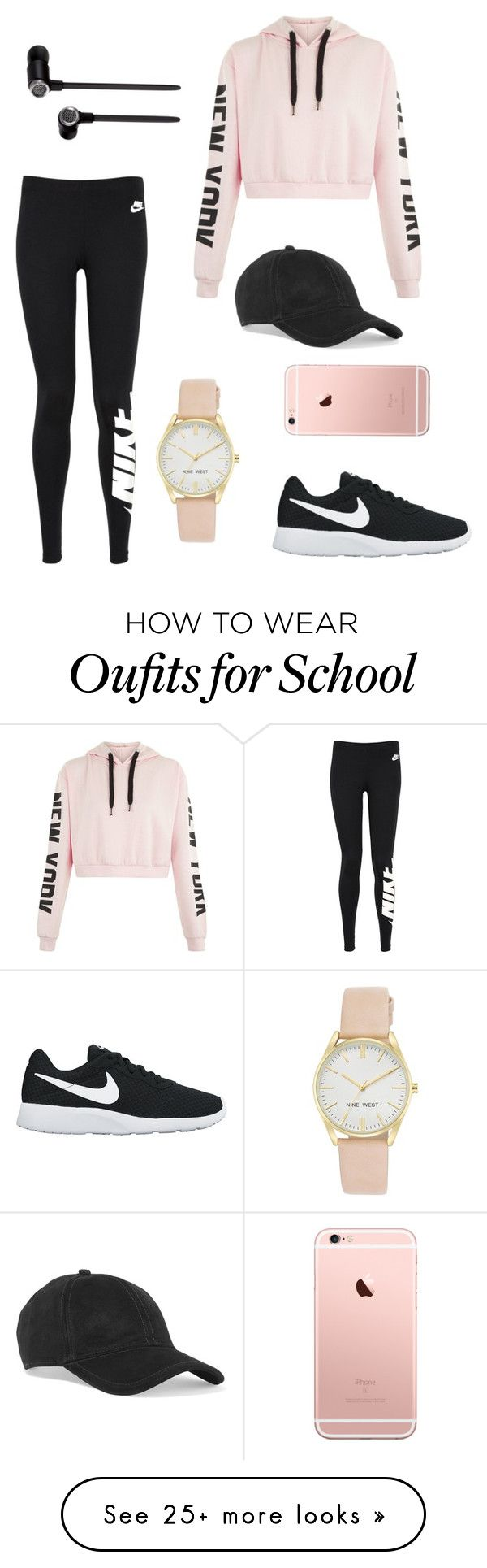 """School Outfits"" by maia-hd on Polyvore featuring NIKE, Master & Dynamic, Nine West and rag & bone"