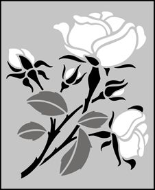 Click to see the actual SS6 - Rose stencil design. stencil-library.com