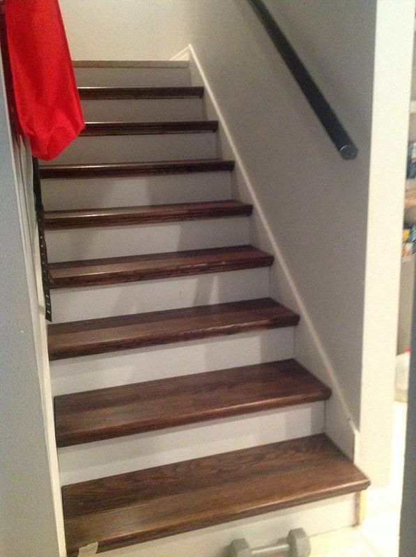 17 best images about 2xl at stairs on pinterest for Ideas for redoing stairs
