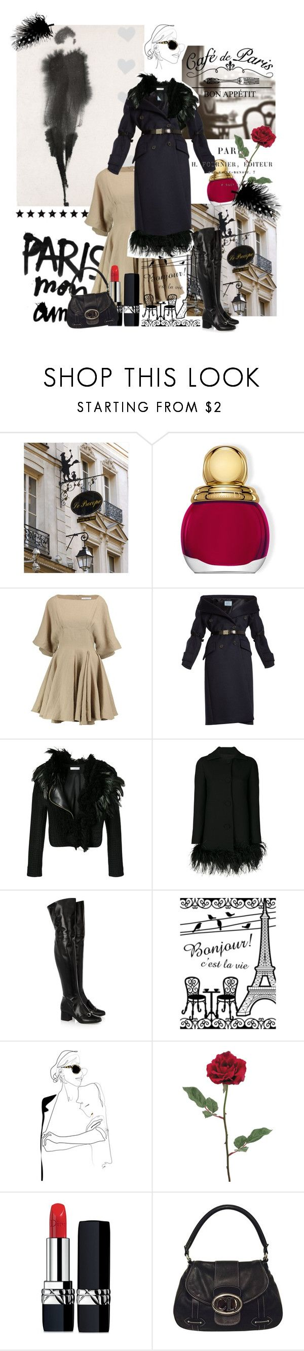 """""""January 22,2018"""" by anny951 ❤ liked on Polyvore featuring WALL, Christian Dior, J.W. Anderson, Prada, Lanvin, Boutique Moschino and Gucci"""