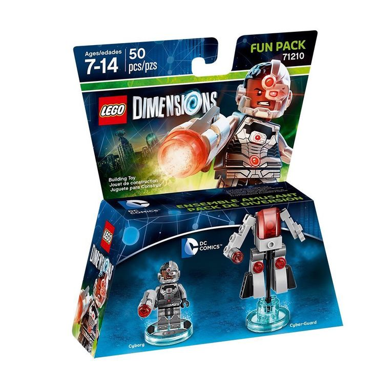 lego dimensions fun pack cyborg cyborg and cyber guard included lego dimensions pinterest. Black Bedroom Furniture Sets. Home Design Ideas