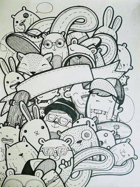 31 best doodle images on pinterest doodles drawing for Doodle art monster