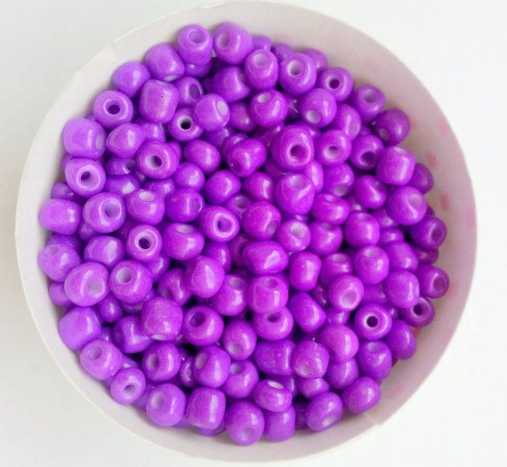 21 g  320 Beads 6/0 TOHO Thistle Purple Opaque by FoxyBeadsCo, $1.50