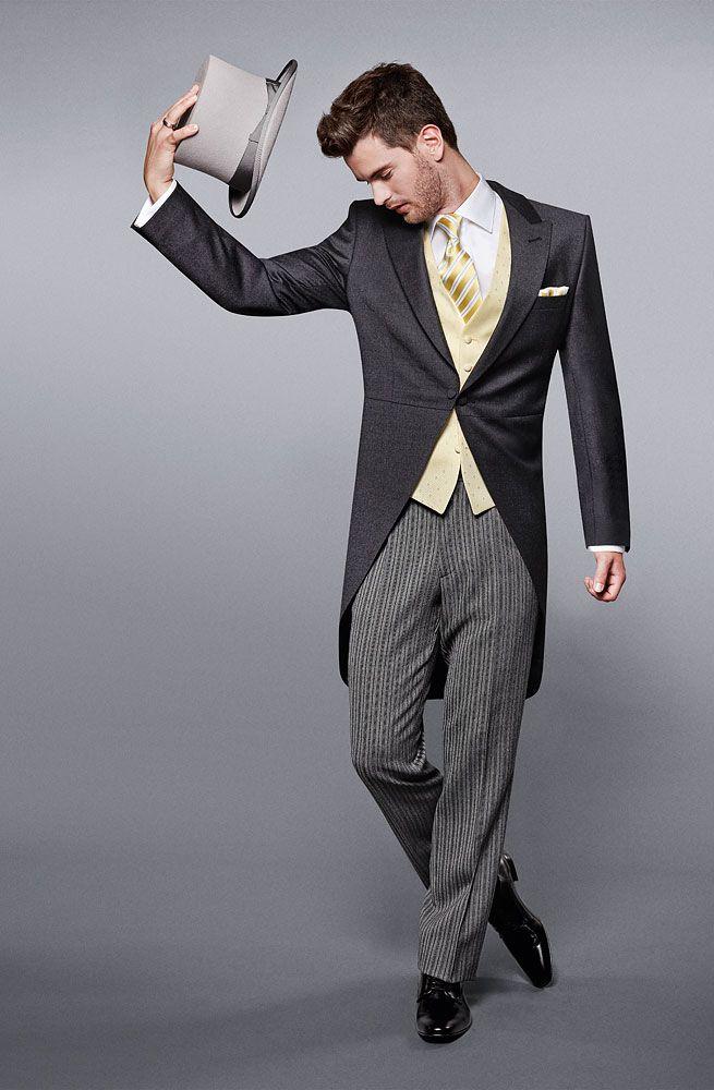 Mut zum Hut: Hochzeitsanzug Cut klassisch mit Stresemannhose und Zylinder Wilvorst