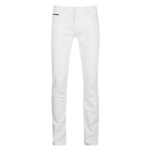 Calvin Klein Men's Skinny Jeans - Infinite White (182.750 COP) ❤ liked on Polyvore featuring men's fashion, men's clothing, men's jeans, white, mens leather jeans, calvin klein mens jeans, mens skinny jeans, mens jeans and mens skinny fit jeans