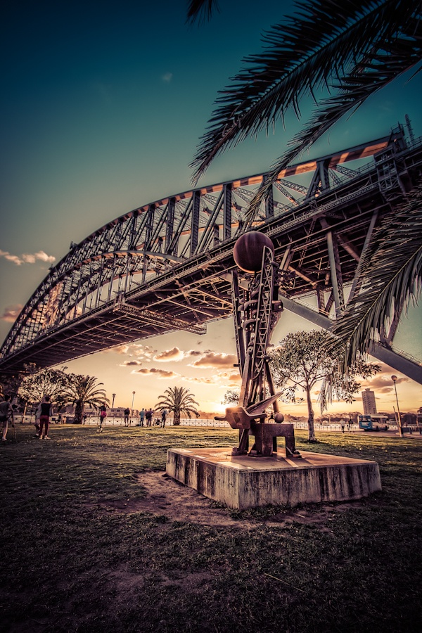 Looking out at the Sydney Harbour Bridge from Kiribilli NSW Australia
