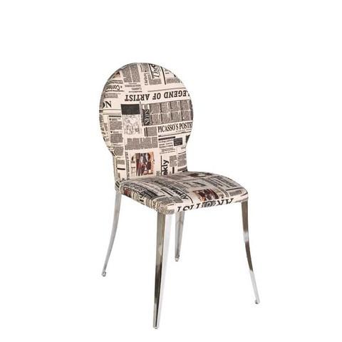 Farid newsprint dining chair $299