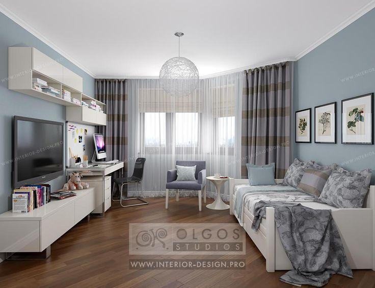 Голубая детская http://interior-design.pro/ru/dizayn-detkoy-komnaty-malchika-devochki blue nursery http://interior-design.pro/en/kids-room-design-ideas mėlyna darželio http://interior-design.pro/vaiku-kambario-interjero-dizainas