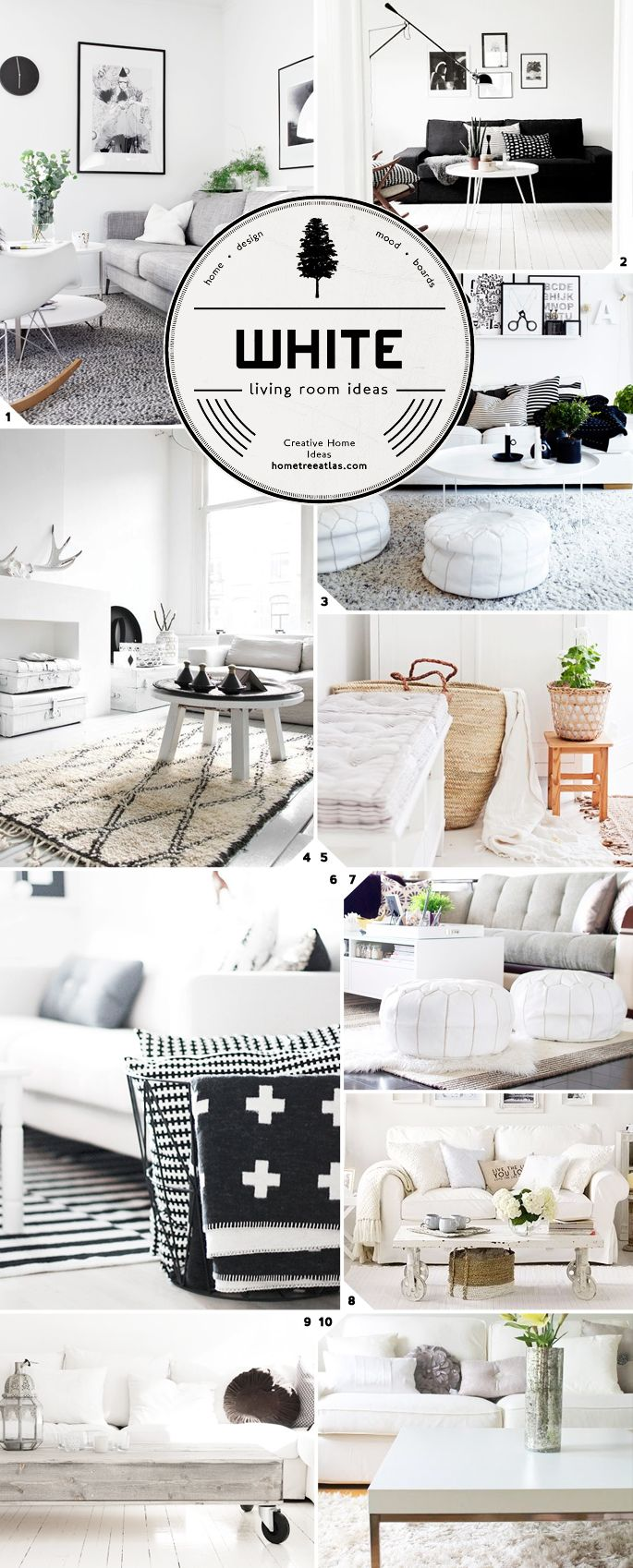 White living room design ideas..