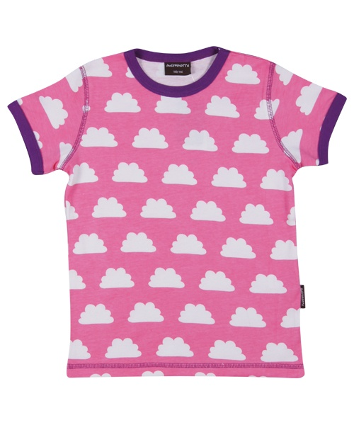 Maxomorra Shirt korte mouw Clouds Pink