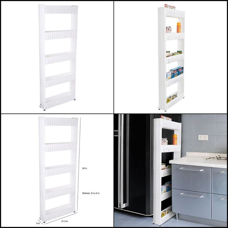 Mobile Shelving Unit Organizer w/ 5 Storage Basket Slide Out Pantry Storage Rack #LavishHome #5Tier