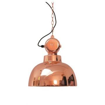 Индустриальный светильник в ярком исполнении. Черный шнур + металлическая цепь длиной 2 м             Материал: Металл.              Бренд: NAF-NAF House.              Стили: Лофт, Скандинавский и минимализм.              Цвета: Оранжевый.