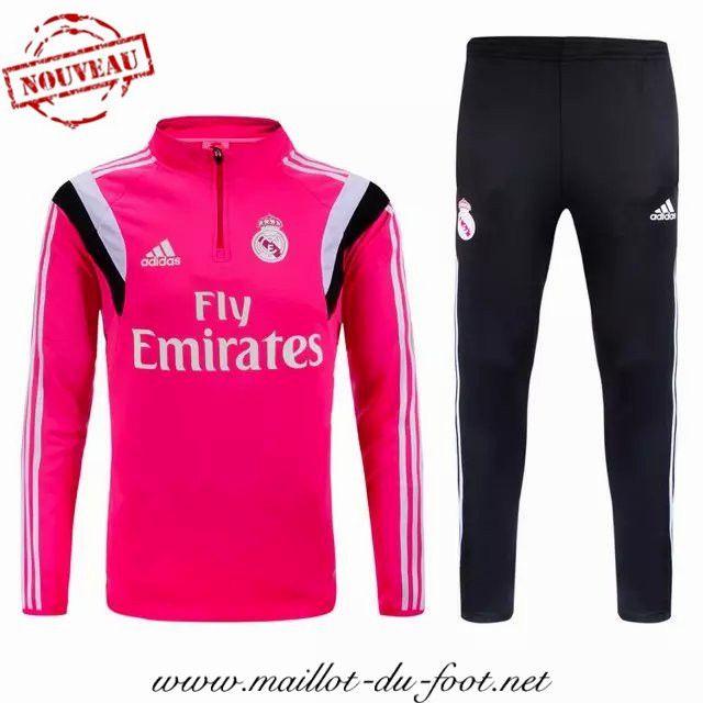 aed9106210c06 la boutique officiel Nouveau Survetement de foot Real Madrid Rose 2015 2016  shopping