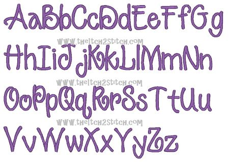 """I2S's Razzle Embroidery Font -- Sizes 1"""" and 2""""HAVE"""