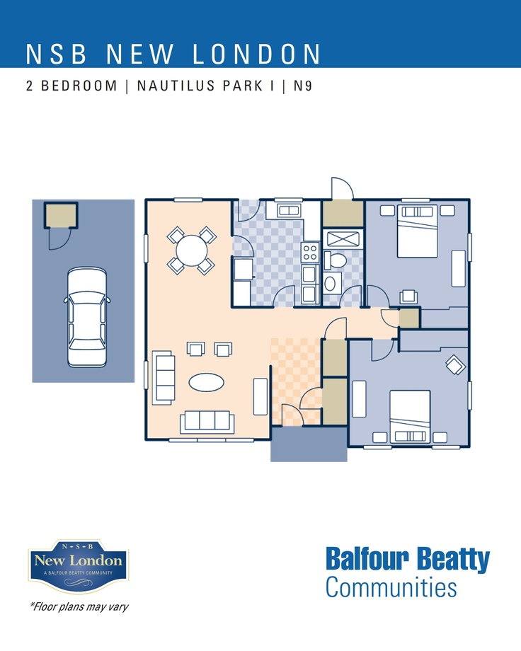 nsb new london nautilus park i neighborhood 2 bedroom home floor plan type n9 nsb new. Black Bedroom Furniture Sets. Home Design Ideas