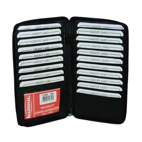 Genuine Leather Zipper Wallet Business & Credit Card Case Holder Bifold #729CF $11.99