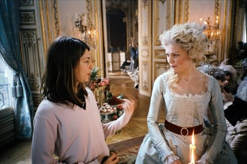 Sofia Coppola and Kirsten Dunst on-set of Marie Antoinette (2006)