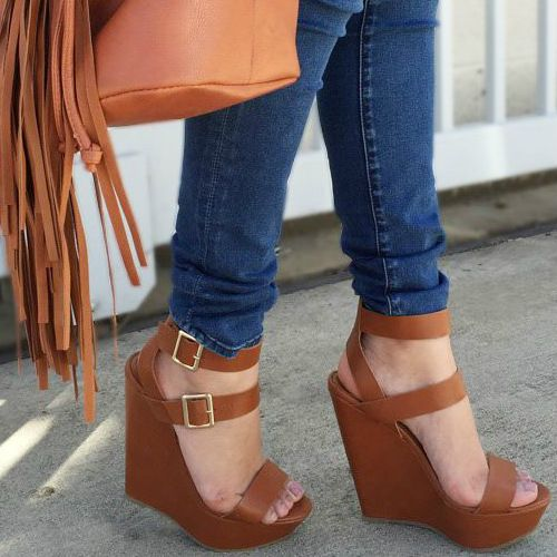Double Ankle Strap Wedges... Cutie!                                                                                                                                                                                 More