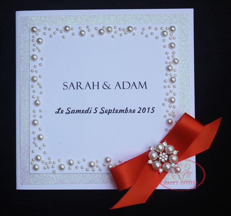 HI1093-Personalizado de Luxo Glitter Cartão Do Convite Do Casamento com Pérola Adesivos(China (Mainland))