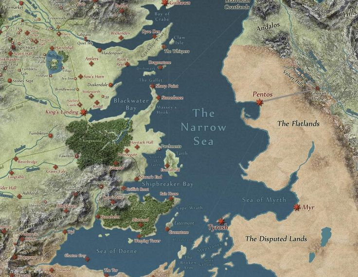 game of thrones map vs europe