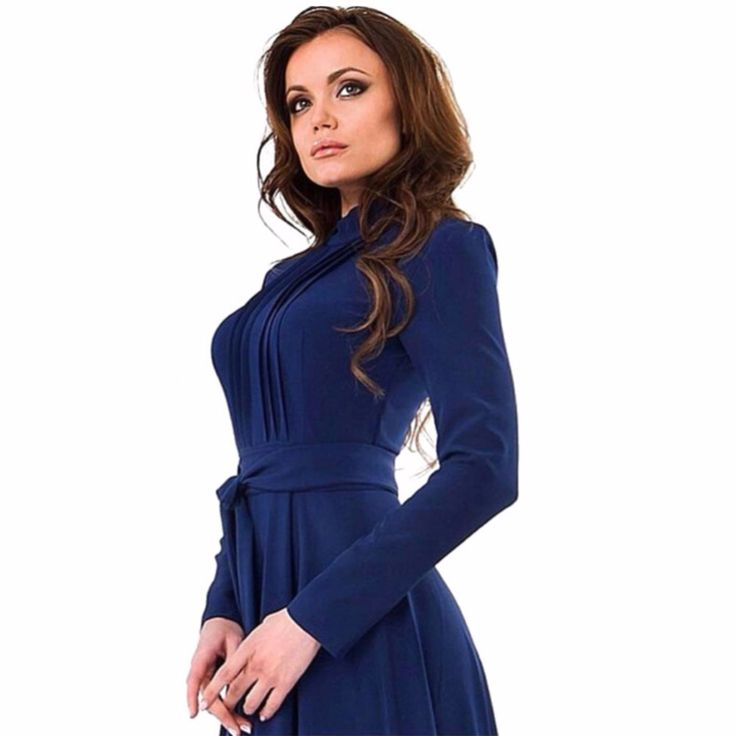 Fashion Lady Womens Long Sleeve Slim Fit Dress Party Long Maxi Gown Dresses