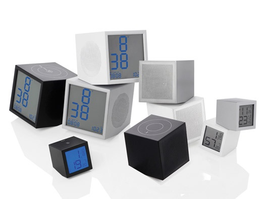Prism series clock & speaker by Joe Doucet | collaboration with French manufacturer LEXON