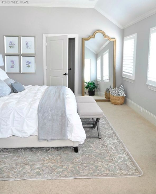 Master bedroom with light gray walls soothing paint for Bedroom ideas light grey