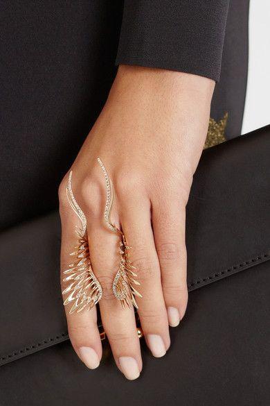 Now this, is a statement piece. CRISTINAORTIZ 9-karat rose gold diamond ring