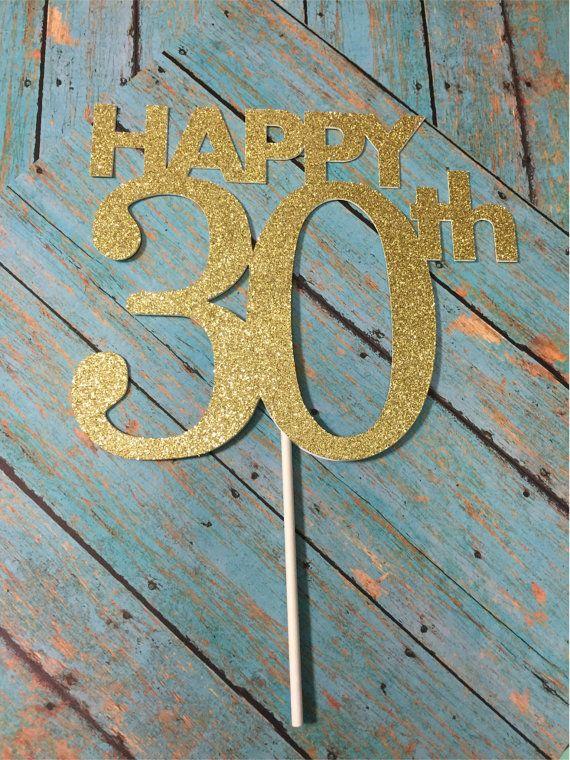 30th Birthday Cake Topper 30th Cake Topper 30 by LadadaDesigns