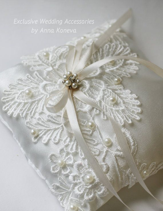 SALE Ivory wedding ring pillow Bearer Ring by JewelryBouquet