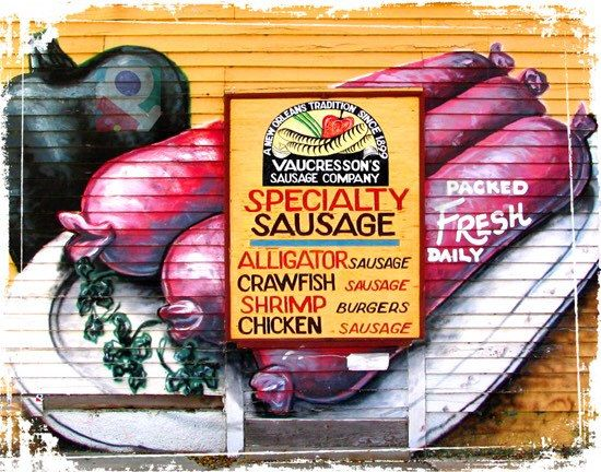 New Orleans Sausage & Seafood Company Vintage by PoBoyPress