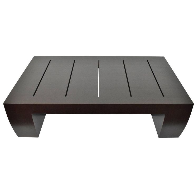 """""""Clifton Road"""" Mahogany Coffee Table by Terry Hunziker in Espresso Finish"""