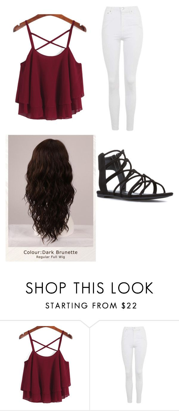 """#OOTSD numero ocho"" by legenius on Polyvore featuring Topshop and WigYouUp"