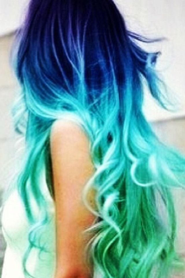 Want this so bad! Dyed hair, blue ombré, mermaid hair ...