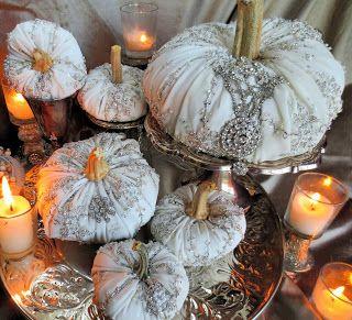 I LOVE LOVE LOVE these Pumpkins!!!! from Ornate Splendor: Elegant Fall Decor