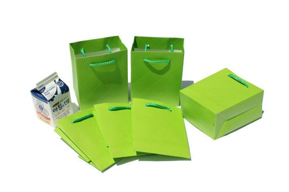 10 pcs4x5x2.5inch/ 11x14x6.5Cm/ yellow Green Color / by EnGREEN