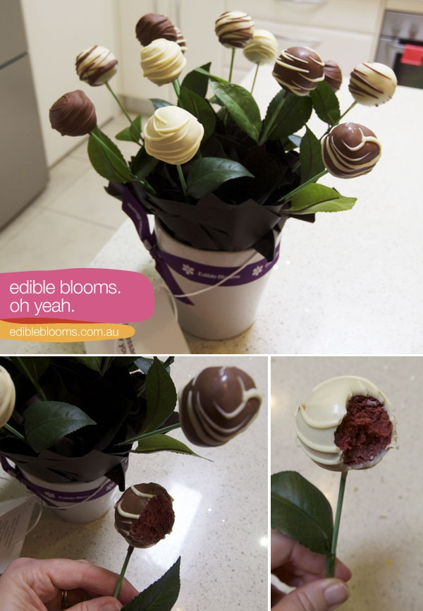 Cake pop/truffle bouquet for a gift! cool idea!