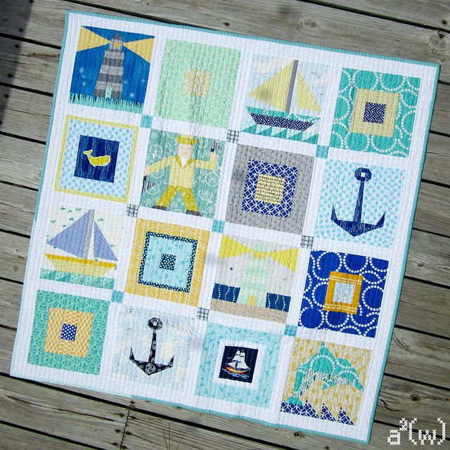 Free Lighthouse Quilt Block Patterns : 32 best images about Nautical quilt squares on Pinterest Quilt, Sea shells and Mariners compass