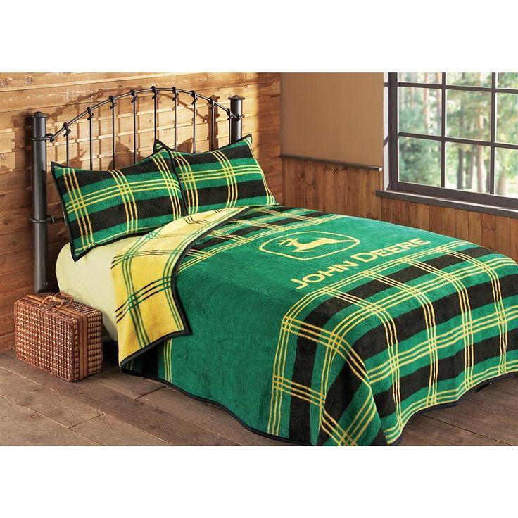 John Deere Plaid Bed Blanket or Sham. 8 best John Deere images on Pinterest   Blankets  Green blanket