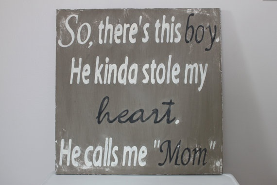 Wood Wall Art Sign Vintage Style So There's This Boy by InMind4U, $43.00