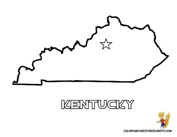 Kids Printable Map Kentucky Kids Social Studies