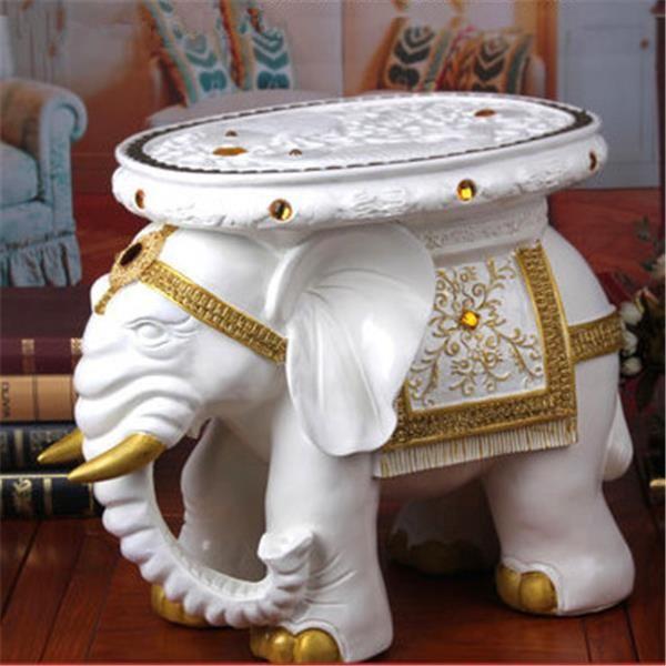 Стране чудес белый слон творческий диван стул пуфик мебель для дома настольные украшения рождественские ремесла гостиная / офис S-20(China (Mainland))