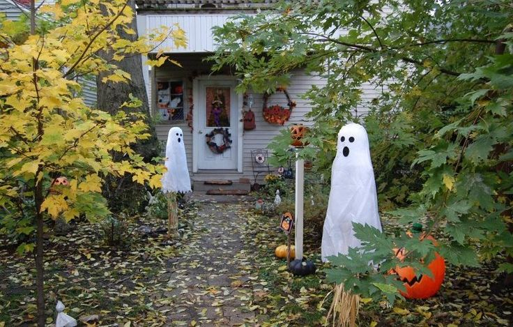 25 fantasma all'aperto decorazioni di Halloween Idee