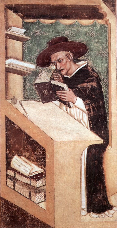 Il cardinale Nicholas de Rouen ritratto nel 1351 da Tommaso da Modena. #BookArt