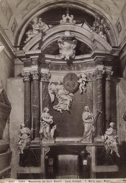 Anderson , Roma - Monumento del Card. Bonelli - Carlo Rainaldi - S. Maria sopra Minerva - insieme