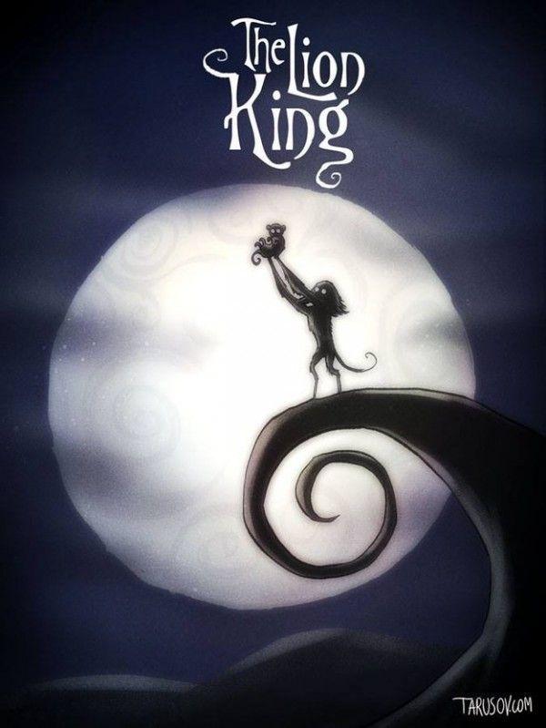 E se os filmes animados da Disney tivessem sido dirigidos por Tim Burton?
