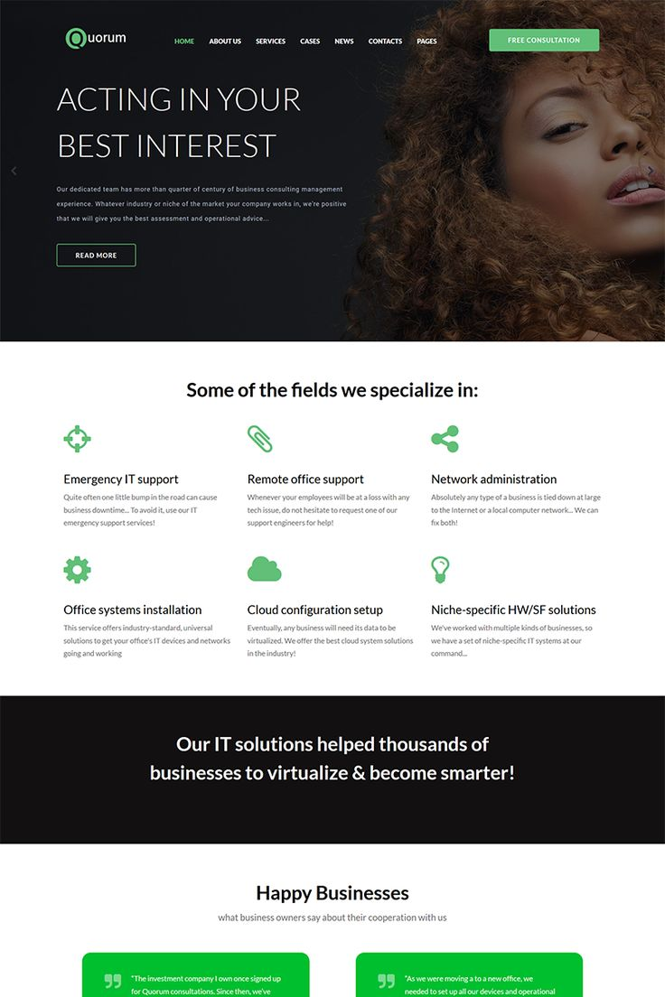 One of the newest themes, developed specifically for business companies, marketing agencies, private entrepreneurs and various businesses. Quorum theme is enhanced with a bulk of plugins and tools to set up your content and layout. #templatedesign #webdesign #business #services  https://www.templatemonster.com/wordpress-themes/quorum-corporate-elementor-wordpress-theme-68560.html