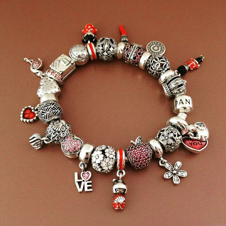50  Off     499 Pandora Charm Bracelet Pink Red White  Hot
